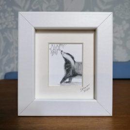 Mini Badger Framed Print