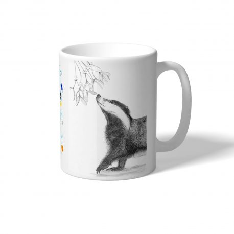 MUG BADGER AND MISTLETOE