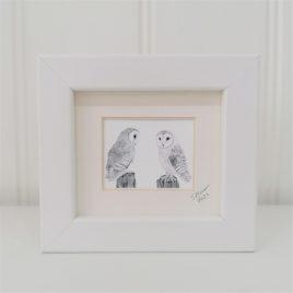 Mini Framed Barn Owl Print