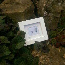 Mam & Lamb Mini Framed Print