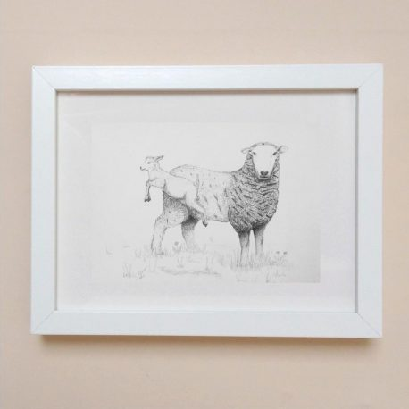 Sheep & Lamb Framed