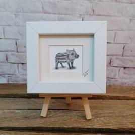 Mini Framed Wild Boar Print