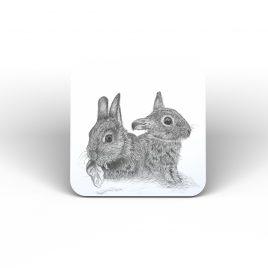 Sage and Rosemary Rabbits Coaster