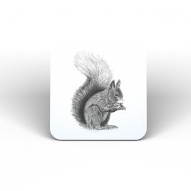Hamish the Red Squirrel Coaster